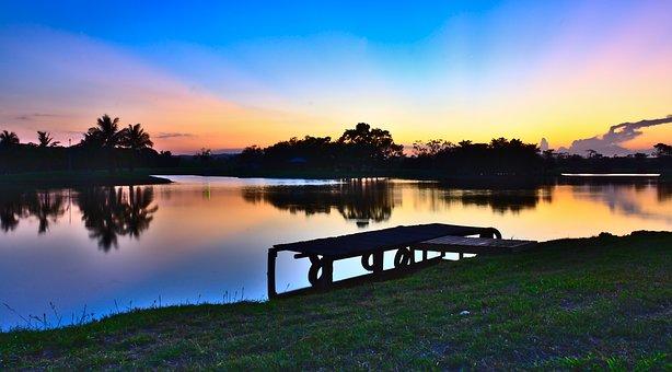 Water, Lake, Nature, Sunset, Dusk, Landscape, Sky