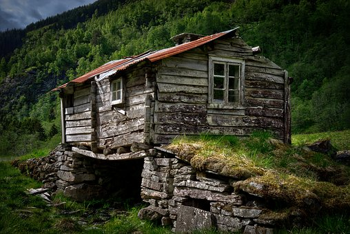 Cabin, Hut, Abandoned, Ruin, Old, Dalsdalen, Norway