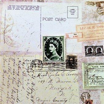 Paper, Document, Map, Vintage, Old, Print, Post, Stamp