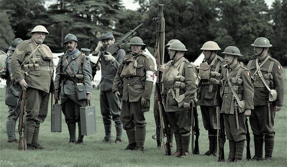 People, Military, Group Together, Uniform, Man, War