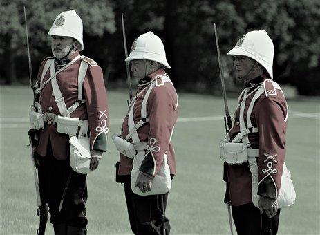 People, Adult, Man, Two, Lid, Military, Uniform