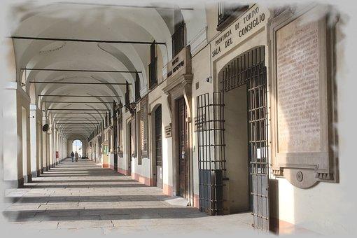 Architecture, Torino, Porch, Piemonte, Antiquity, Italy