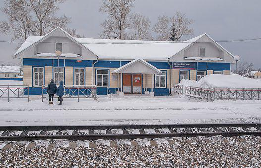 Siberia, Station, Railway, Trans-siberian Railway
