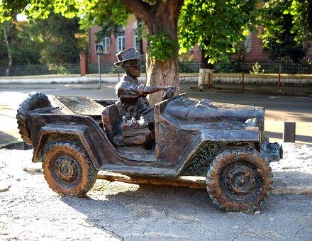 Vehicle, Transportation System, Car, Vintage, Sculpture