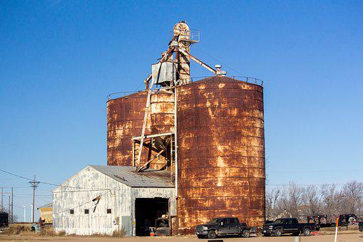 Sky, Outdoors, Industry, Architecture, Silo