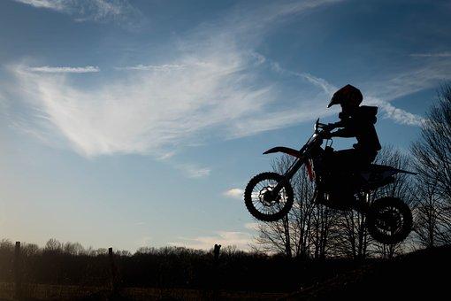 Wheel, Bike, Outdoors, Sky, Biker, Action, Sunset
