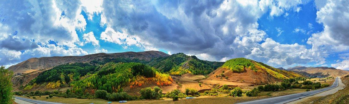 Panoramic, Nature, Sky, Landscape, Travel, Kaçkars