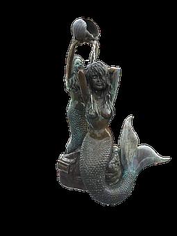 Mermaid, Mermaid Statue, Bronze Mermaid, Statue