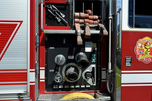 Fire Engine, Supplies, Fire Hose, Water, Tank, Pressure