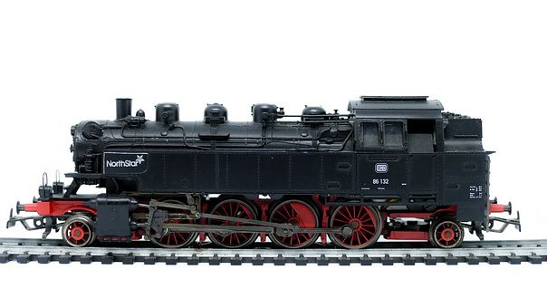 Engine, Train, Transportation System, Railroad Track