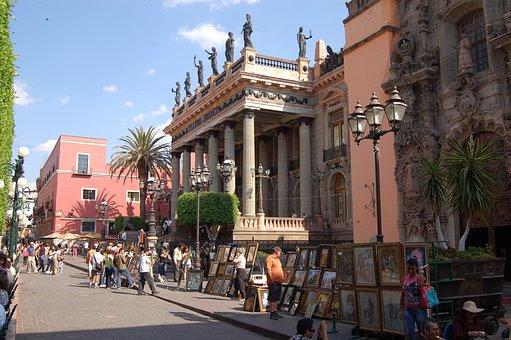 Street, Architecture, City, Travel, Tourism, Guanajuato