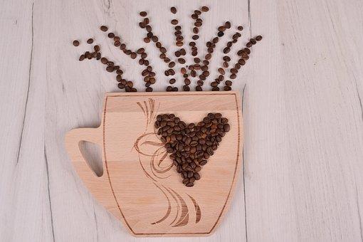 Desktop, Wooden, Closeup, Coffee, Caffeine, Seed, Bean