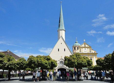 Altötting, Church, Place Of Pilgrimage, Grace Chapel