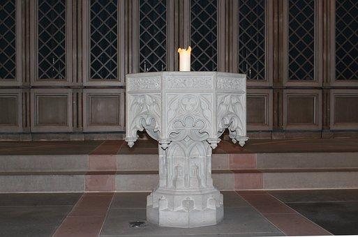 Baptismal Font, Stonemason, Art, Steinmetz