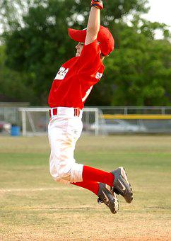 Baseball, Leaping, Player, Jump, Little League, Leap