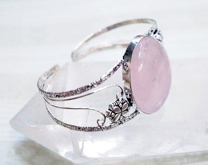 Jewelry, Rose Quartz, Pink, Cuff, Stone, Bracelet