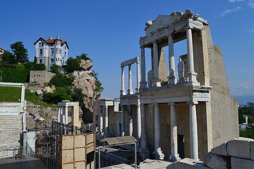 Plovdiv, Roman Ruins, Bulgaria, Architecture