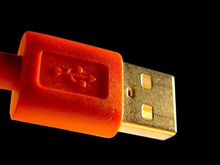 Usb Plug, Usb, Cable, Computer, Connection, Plug