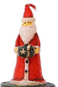 Beard, Candle, Celebration, Christmas, Santa Claus