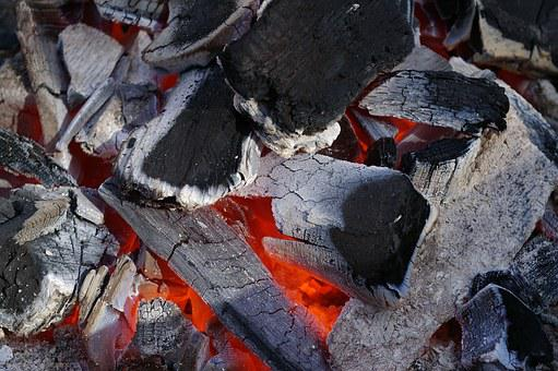 Barbecue, Charcoal, Grill, Smoke, Carbon, Flame, Embers