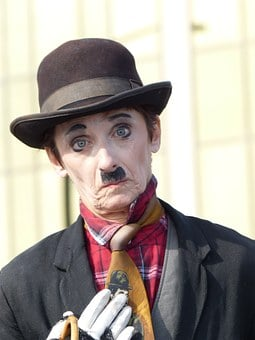 Charlie Chaplin, Copy, Circus, White, Costume, Sad