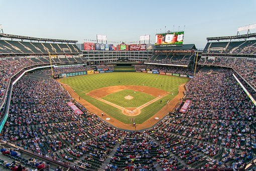 Rangers, Ballpark, Baseball, Field, Mlb, Game, Diamond