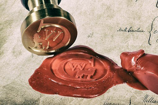 Seal, Sealing Wax, Certificate, Old, Document