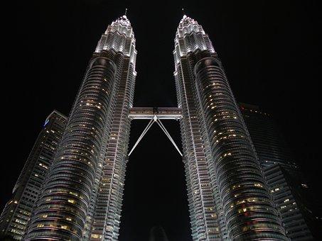 Petronas, Twin Towers, Skyscrapers, Buildings, Facade
