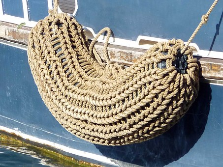 Boat, Ship, Port, Fender, Sisal, Larboard, Sea, Water