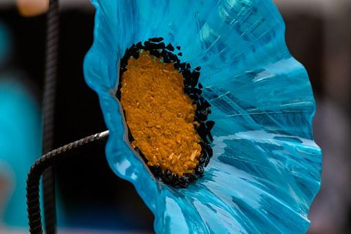 Flower, Glass Flower, Garden Decoration, Low Key