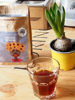 Coffee, Flower, Table, Wood, Drink, Coffee Cup