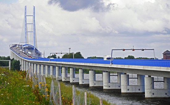 Rügen Bridge, Strelasund, Inlet, High Bridge, Altefähr