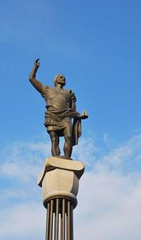 King Filip, Plovdiv, Bulgaria, Statue, History, Blue