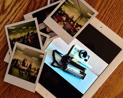 Photography, Ipad, Camera, Polaroid, Instant, Photo