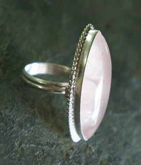 Rose Quartz, Crystal, Pink, Silver, Metal, Jewelry
