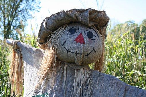Scarecrow, Fall, Straw, Jute