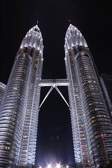 Twin Towers, Kuala Lumpur, Malaysia, Klcc, Skyscraper