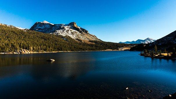 Lake, Snow, Mountains, Cold, Mirror Lake, Landscape