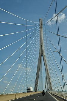 Bridge, Cable-stayed Bridge, Cable, Line, Highway