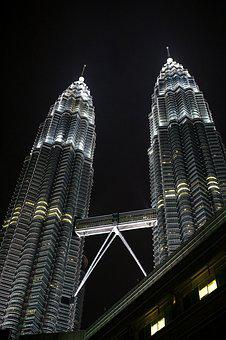 Twin Towers, Malaysia, City, Petronas, Building