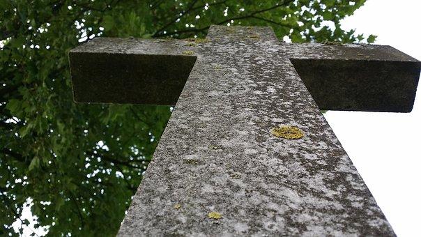 Cross, Stone Cross, Memorial Stone, Steinmetz, Tomb
