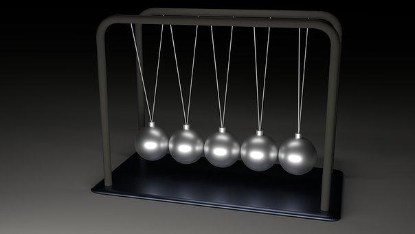 Newton, Pendulum, Balls, Spherical Ball Joint, Metal