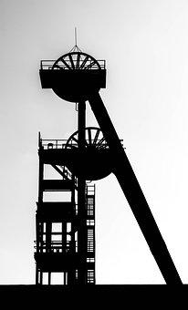 Tower, Headframe, Bill, Mine, Ruhr Area, Mining