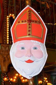 Saint Nicholas, Mitre, Saint, Mask, Sint Nicolaas