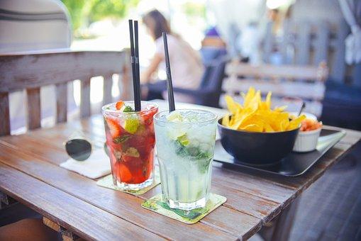 Cocktails, Glasses, Drinks, Nachos, Snack, Bar
