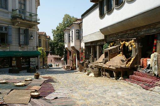 The Old Town, Plovdiv, Bulgaria, Bazaar, Street, Narrow