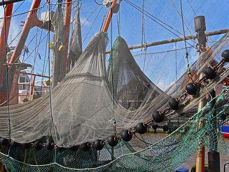 Fishing Net, Port, Dry, Neuharlingersiel, Sielhafen