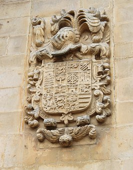 Coat Of Arms, Stone Relief, Northern Spain, Steinmetz