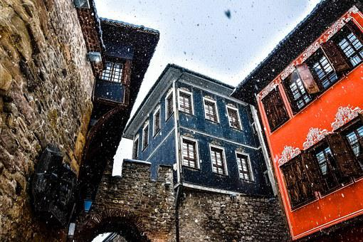 The Old Town, First Snow, Plovdiv