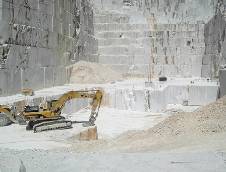 Marble, Quarry, Carrara Marble, Blocks, Italy, Boulder